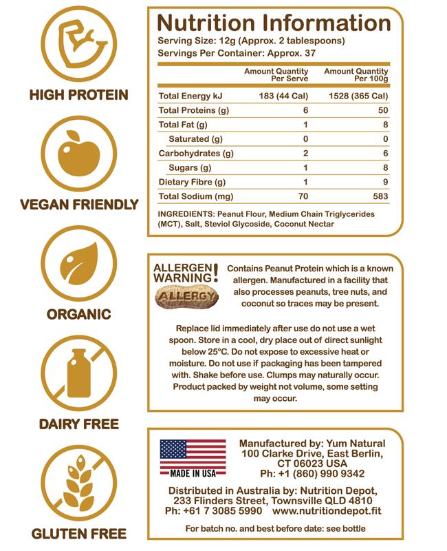Powdered peanut butter organic